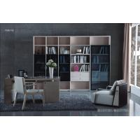 Cheap Cheap Apartment room Fashion Home office Furniture Study Computer Reading table and Glass door bookcase with wood Shelve for sale