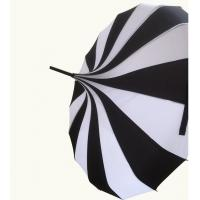 10 pieces lot new creative design black and white striped golf umbrella long handled straight. Black Bedroom Furniture Sets. Home Design Ideas
