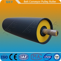 Buy cheap Heavy Duty Belt Conveyor Motorized Driving Pulley Drum With Rubber Lagging DIN, from wholesalers