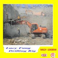 Cheap China Hot Multifunction MGY-100BW Excavator Mounted soil and rock anchor DTH drilling rig for sale