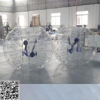 Cheap Clear PVC Tarpaulin White Inflatable Bumper Ball For Water Fun OEM / ODM for sale