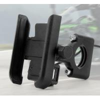 Cheap Aluminium Alloy Usb Fast Charging Motorcycle Phone Bracket Motorcycle Phone Holder With Charger for sale