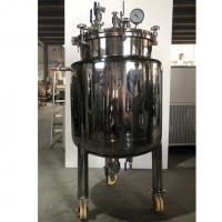 Cheap Continous Stirred Tank Reactor Stainless Steel Electric Heated Stirrer Chemical Single Layer Mixing Tank with Stirrer Ag for sale