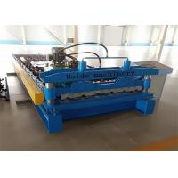 Cheap 1000mm Galvanized Metal Roof Panel Roll Forming Machine 50Hz PLC Control for sale