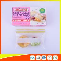 Seals Tight Plastic Ziplock Snack Bags Reuseable With Private Lable