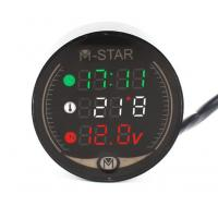 Cheap 3 In 1 Motorcycle LED Panel Digital Voltage Meter Display Voltmeter clocks timetable Thermometer Motorcycle Accessories for sale
