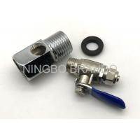 Cheap Zinc Alloy Ball Valve And 3 Way Adapter for Reverse Osmosis Parts Water Purifier for sale