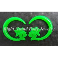 Cheap Custom Green Spiral Ear Tapers Plug Gauges For Engagement / Party for sale