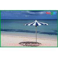 Buy cheap Promotional Beach Parasol Custom Printed Compact Windproof Umbrella from wholesalers