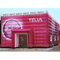 Cheap Customized Colorful PVC Tarpaulin Cube Tent with Logo Printing for sale