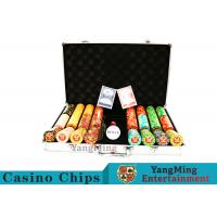 Cheap Texas Poker Chip Set / 11.5g Clay Casino Chip With Aluminum Case for sale