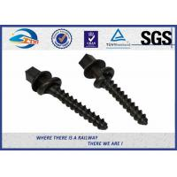 ISO SGS inspected  Q235 35# 45# Railway Sleeper Spikes  Black Oxide Screws Manufactures