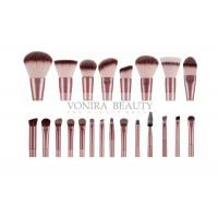 Champagne Private Label Makeup Brushes 22 Pieces , Synthetic Makeup Brushes