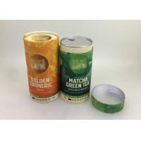 Cheap CMYK Printing Airtight Small Paper Tubes With Foil Lid For Macha Packaging for sale