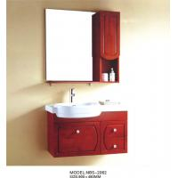 Cheap Solid Wood Bathroom Cabinet painted Soft closing system 800 * 160 * 800mm mirror size for sale