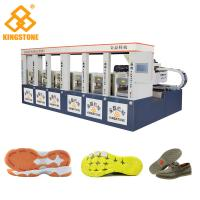 Buy cheap CE SGS 6 Stations Rubber Shoe Sole Making Machine 1-2 Color 2 Years Gurantee from wholesalers