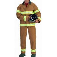 Cheap Nomex Light Weight Two Big Patch Pocket Fireman Turnout Gear Adjustable Braces for sale