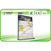 Cheap 120mm Stand Banner Frameless Light Box For Advertising With Double Side , 12V / 24V for sale