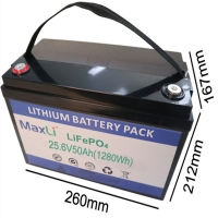 Cheap ISO14001 Cylindrical 1280Wh 24V Lifepo4 Battery for sale