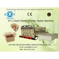 Cheap Rotary Semi Automatic Carton Printer Slotter Machine With Elastic Pressing Plate for sale