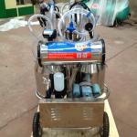 Double Buckets Mobile Milk Pump Machine / Portable Milking Machine 25L * 2 Manufactures