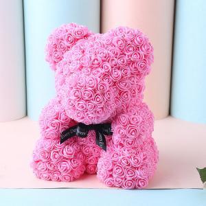 Cheap Teddy Bear with Heart Soap Roses Bear  Roses Teddy Bear Christmas day gift for sale