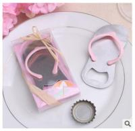 Cheap New creative gift product wedding gift pink rubber slipper shape bottle opener for sale