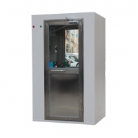 Cheap Swing Door Cold Rolled Cleanroom 1.6Kw Air Shower Room for sale