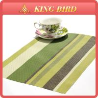 Cheap Cafe Shop Green Plastic PP Weave Placemat for Table Home Decoration for sale