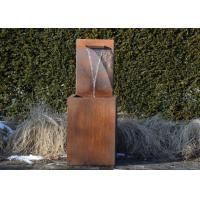 Cheap Professional Corten Steel Garden Water Features Fountains 150cm Height for sale