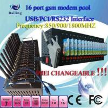 Buy cheap GSM GPRS 16 port modem pool for bulk sms original module from wholesalers