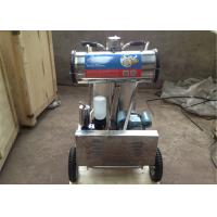 Cheap 220v / 50hz Aluminum Bucket Dairy MilkingMachinery With Mobile Wheel for sale