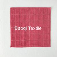 """Buy cheap Red color size 16""""100% poly microfiber cleaning cloth, tea towels dry water from wholesalers"""