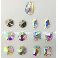 Cheap Mixed Shapes Clear Ab Sew-on Flat Back Glass Rhinestones for evening dress for sale