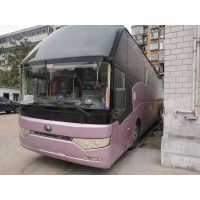 Cheap ZK6122 Double Doors Left Steering Used Tour Bus 50 Seats for sale