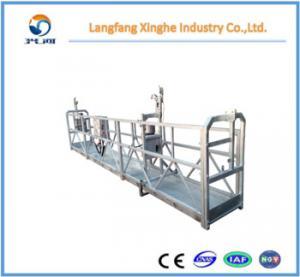 5 years warranty zlp630/zlp800 suspended work platform / lifting gondola / hanging scaffolding for building maintenance