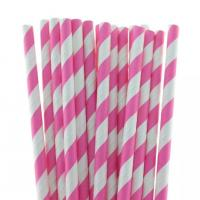 Cheap multi-type Decorative pattern colorful paper straws with 26mm length for sale