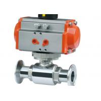 China Explosion Proof Hygienic Ball Valves , Pneumatic Operated Ball Valve 3/4 ASME BPE on sale