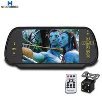 Cheap Anti-glaring Glass rear view mirror with 7 inch display/ reversing camera for sale