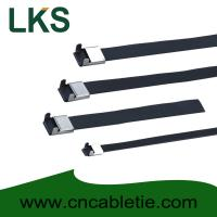 Buy cheap 12×450mm L Type PVC coated stainless steel cable tie from wholesalers