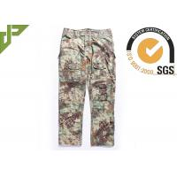 Cheap Multicam Camouflage Army Combat Pants , Military Men's Tactical Cargo Pants Slim Fit for sale