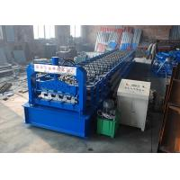 Cheap Galvanized Type H75 Floor Deck Roll Forming Machine GI Raw Material With 28 Rows for sale