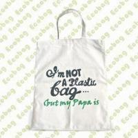 Cheap Cotton/Organic Cotton/Bamboo Bag with Silkscreen Printing, Various Colors are Available for sale