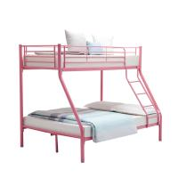 Cheap Children Double Bunk Metal Pipe Bed Customizable With School Dormitory for sale