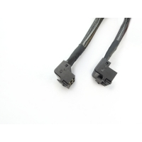 Cheap 30AWG Elbow 0.5 Meter 1.6ft Serial Attached Scsi Cable for sale