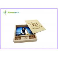Cheap Maple And Walnut Custom Wood Flash Drives Photo Album Shape For Wedding Gifts for sale