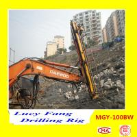 Cheap China Hot Multifunction MGY-100BW Excavator Mounted soil and rock anchor drilling rig for sale