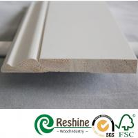 Cheap White primer coated pine and fir wood baseboard architrave mouldings for sale