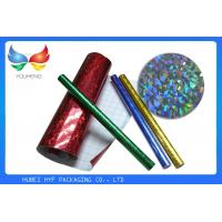 Cheap Laser Design Self Adhesive Holographic Film / Metallized Bopp Film For Cigarette for sale