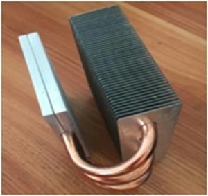 Buy cheap Aluminum heatsink / Copper Pipe Heat Sink Silver Body Color CE GS from wholesalers